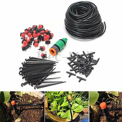 25m DIY Micro Drip Irrigation System Auto Timer Plant Watering Garden Hose Tool