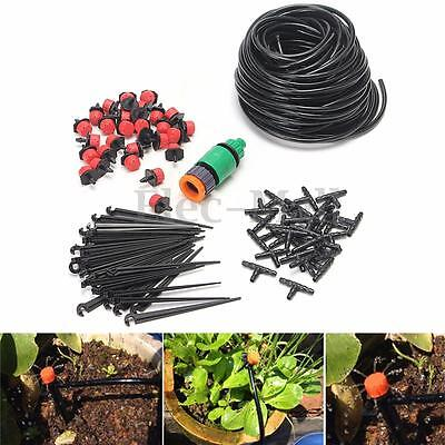 25m Hose Micro Drip Irrigation System Auto Timer Plant Watering Garden DIY Tool