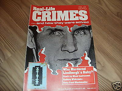 Real-Life Crimes Magazine*34*the Lindbergh Baby*true Crime*english*