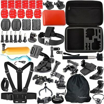 47 in 1 Outdoor Sports Camera Accessories Kit for GoPro 5/4/3+/3/2/1 BlackSilver