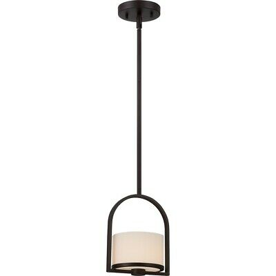 Nuvo Celine 1 Light Mini Pendant w/ Etched Opal Glass, Venetian Bronze - 60-5578