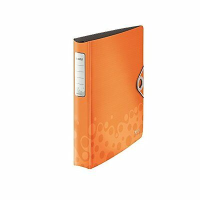 LEITZ Ringbuch Active Bebop, A4, Polyfoam, orange, 4 D-Ring