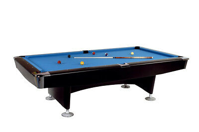 Pool table Club Master, 8 ft 224 x 112 cm large, new with Slate slab