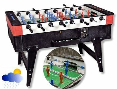Foosball Table Kicker table Outdoor with Coinage, 140 x 78
