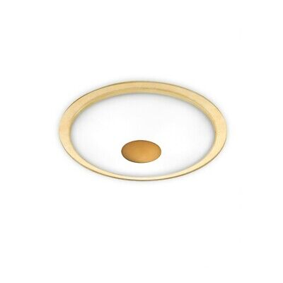 Holtkoetter Flushmount, Solid Center-Antq Brass, Gold Accent Ring - 3603SOLABHGD