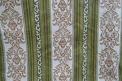 "Pair Vintage Retro 1960s or 1970s Patterned Fabric Curtains 44"" Wide x 70"" Drop"