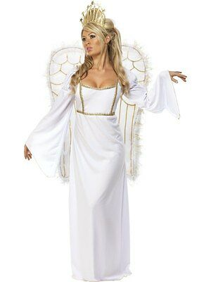 Sexy Adult Christmas White Angel Ladies Fancy Dress Costume Party Outfit