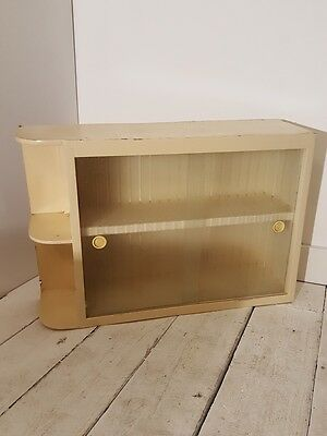 Retro Vintage 1960s Wall Cabinet with Glass Doors