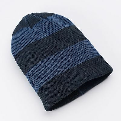 800f2db63f8 Urban Pipeline Men One Size Multi Blue Stripe Ribbed Knit Beanie NEW  20