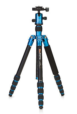 MeFOTO RoadTrip Aluminum Travel Tripod Kit Blue Color A1350Q1B - photographic