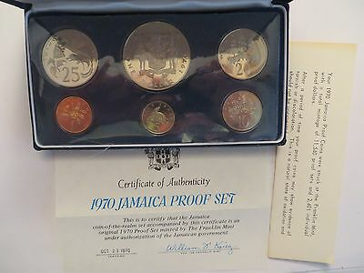 1970 Jamaica Proof Set, 6 coins, mint package w/ COA