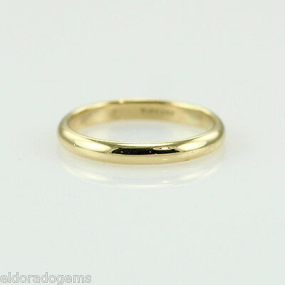 34e4123bf TIFFANY & CO. LUCIDA RING VINTAGE 2mm WEDDING BAND 18K YELLOW GOLD SIZE 4.75