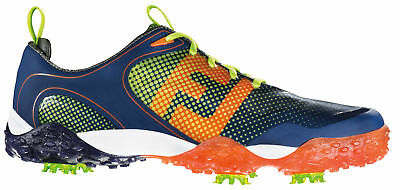 FootJoy Freestyle Golf Shoes 57332 Navy/Orange/Lime Mens New