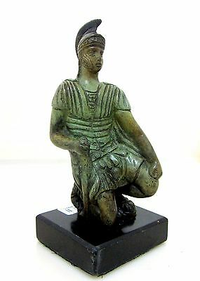 Ancient Greek Bronze Museum Statue Replica Of Spartan Hoplite Resting (1200)