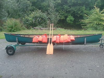 old town canoe with trailer