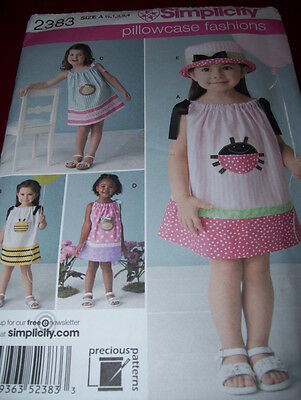 Simplicity 2383 Girls Soooo Cute 4 Style Pillowcase Dress