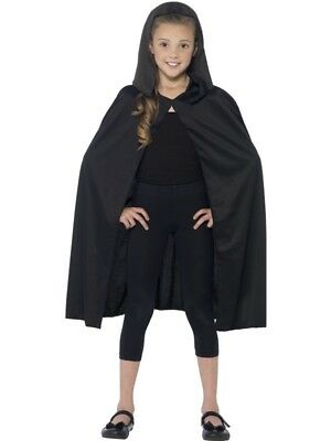 Childs Black  Hooded Cape