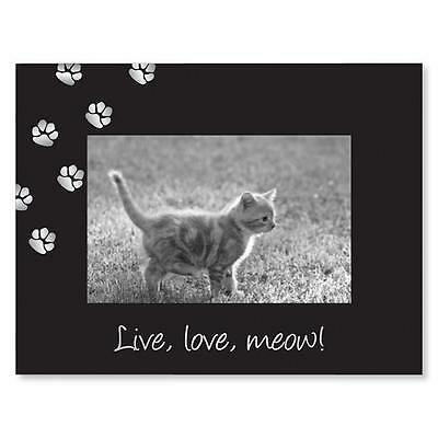 Cat Photo Frame, Pet Picture Frame, Live, Love, meow! by Sixtrees