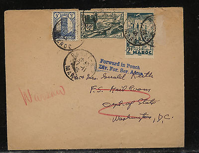 Morocco  US diplomatic pouch  mail  mailed in Morocco  1946         KL0410
