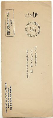 Brazil   US  diplomatic   cover to  US   1937      EX0403