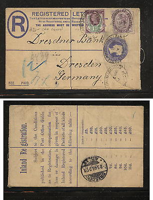 Great  Britain  uprated postal card 1898 to Germany           AT0612