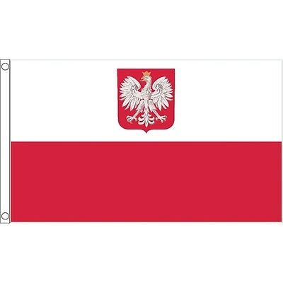3ft x 2ft Small Poland Eagle Flag - Polish 3ft National Country Metal Eyelets