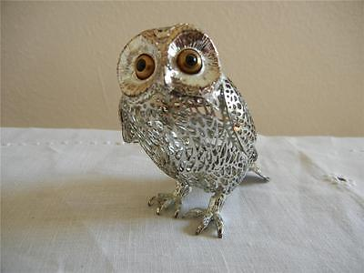 Christofle Silverplate Lumiere France Openwork Owl Figurine
