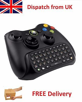 Used Clip-on QWERTY Text Message Keypad Keyboard Chatpad for Xbox 360 Controller