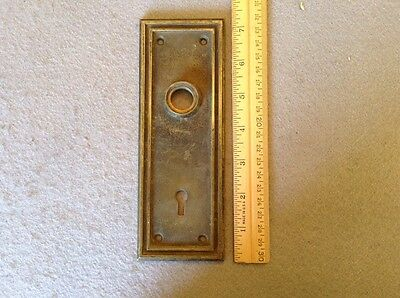 Antique / Vintage Heavy Thick Brass Sargent & Co Metal Door Knob Back Plate