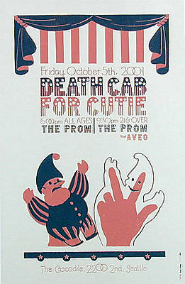 Death Cab for Cutie Prom Aveo Crocodile Cafe Seattle Washington 2001 Poster