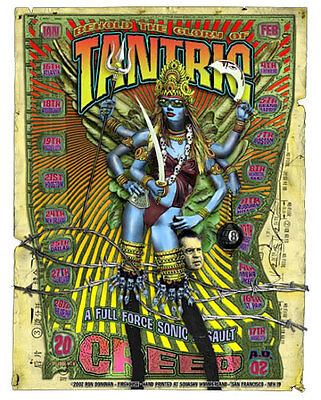 Tantric Creed Weathered Album Early 2002 US Arena Tour Poster Firehouse