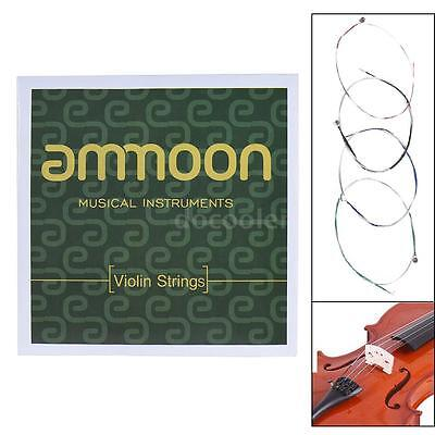 ammoon Full Set High Quality Size 1/2 & 1/4 Violin Strings G D A and E New K4U8