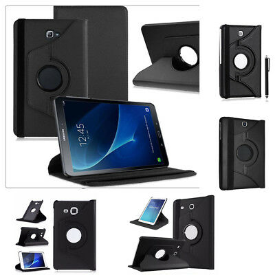 For Sumsung Galaxy Tablets 360 Rotating Smart Leather Case Cover in All Models