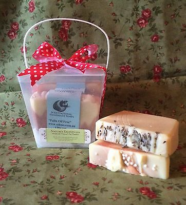 �� Gift Box of 3 x 100% Natural GOATS MILK SOAP 360g - Assorted Essential Oils