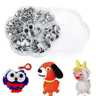700Pcs 7 Size Diy Round Self-Adhesive Wiggly Googly Eyes For Doll Toy Salability