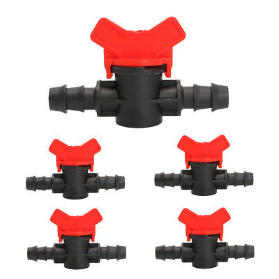 16mm 5Pc Convenient Coupling Pipe Irrigation Water Hose Switch Plastic Valve New