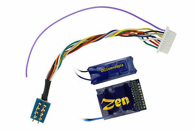 DCC CONCEPTS ZEN 218 21 & 8 Pin 4 Function Decoder w/Stay Alive REF Z218