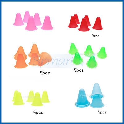 Pack 5Pcs Witches Hat Slalom Marker Cones Sport Skate Soccer Drill Training 3In