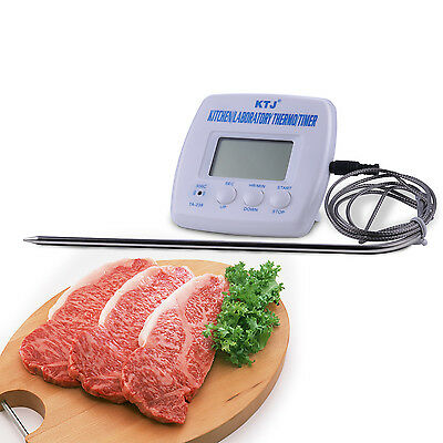 Digital Probe LCD Thermometer Temperature Cooking BBQ Meats Poultry Food Kitchen