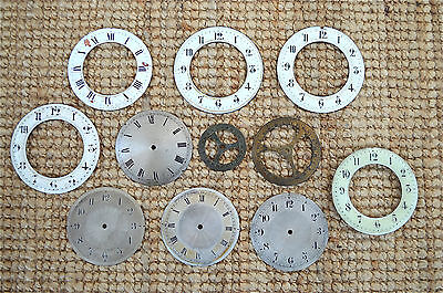 10 assorted antique enamel clock dials decorative clock face CD5
