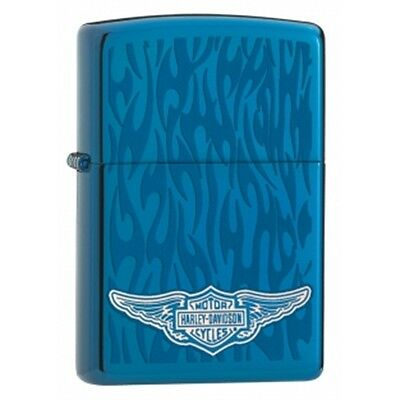 Sapphire Ghost Zippo Lighter - Hd Harley Davidson Pocket Gift Smokers Accessory