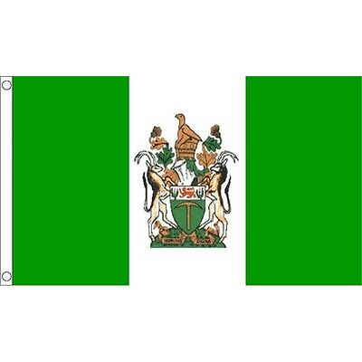 3 × 2ft Rhodesian National Flag - Rhodesia 3ftx Country Metal Eyelets