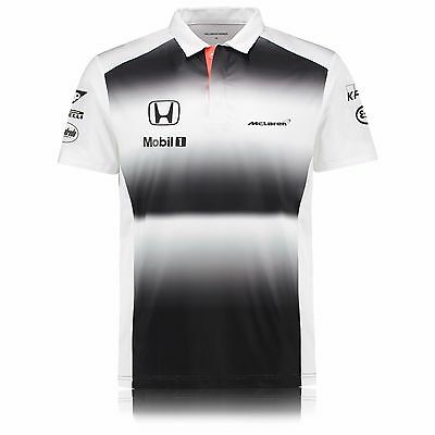 McLaren Honda F1 Men's 2016 Team Polo Shirt  (100% Official)