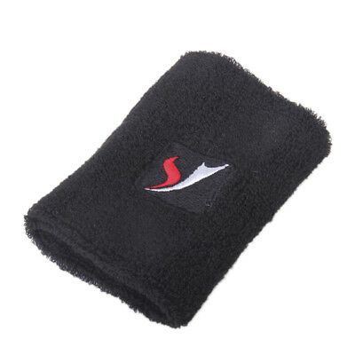 Black Sports Wristband Wrist Band Brace Support Sweatband