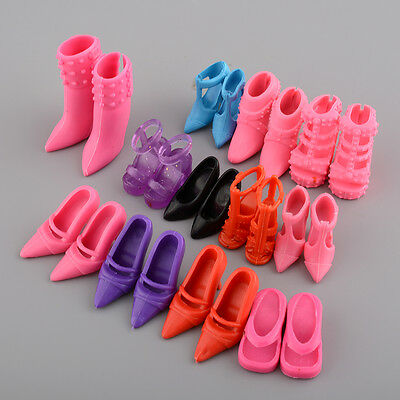 Mix 24pcs/12Pairs Shoes Boots for Barbie Doll Toy Girls Play House Color Random