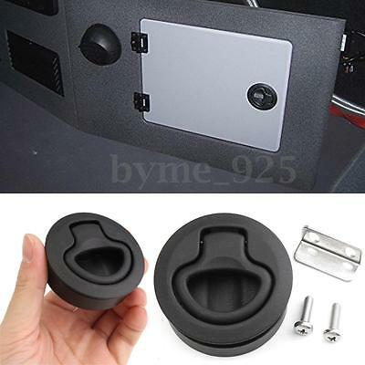 Slam Latch Hatch Round Pull Latch 1/2'' Door for M1-63 RV Marine Boat &2 Screws