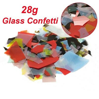 28g Mix Color Confetti Glass Chips 90 COE For Microwave Kiln Fusing Supply DIY