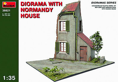 MINIART DIORAMA WITH NORMANDY HOUSE Scala 1:35 cod.MA36021
