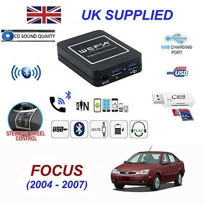 For Ford FOCUS Bluetooth Hands Free Phone AUX Input MP3 USB Charger Module 40PIN