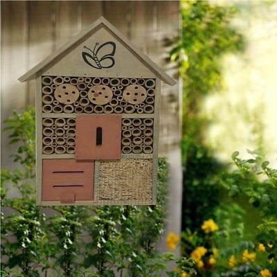 Wooden Large Insect Bugs Garden Hanging Hotel Home Bees Ladybird Nest Box House